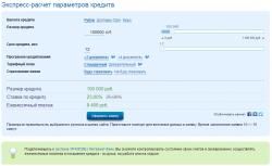 Кредитный калькулятор Уралсиб банка